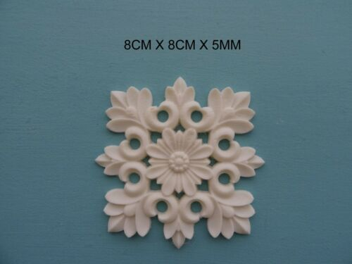 Decorative Applique Fleur Carreau Résine Meubles Moulage incrustation de surface NR29