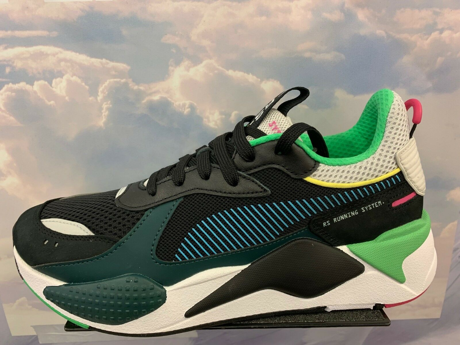 Puma RS-X Toys Reinvention Running System System System nero bianca verde Sz 4Y-13 369449_01 f2c1eb