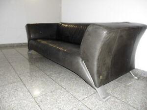 Details zu ROLF BENZ 322 Sofa Leder schwarz gebraucht Klassiker