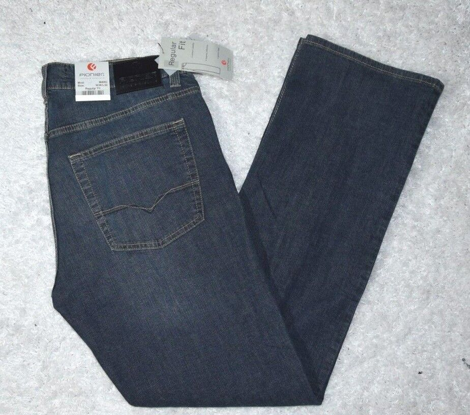 Jeanshose Jeans Hose von PIONIER Gr. 25 (36 32) REGULAR FIT denim blue (14)