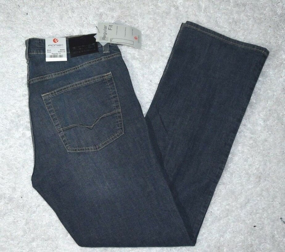 Jeanshose Jeans Hose von PIONIER Gr. 25 (36 32) REGULAR FIT denim blue (14)