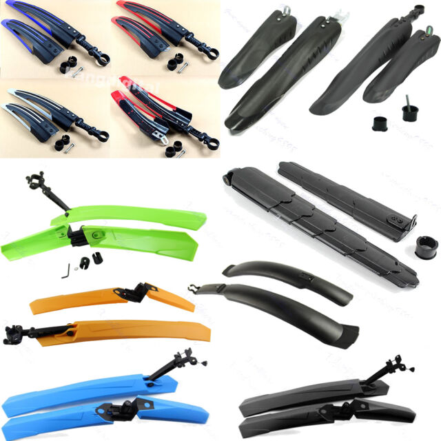 Mountain Bike Bicycle Road Tire Front Rear Mudguard Tyre Fender Set Mud Guard