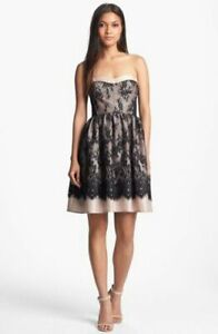 wyton nordstrom dress size m designer lace strapless