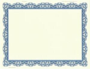 20 blank certificate paper blue border design your own award