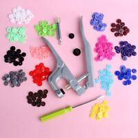 KAM Button Fastener Snap Pliers +150 Set T5 Snap Plastic Resin Snap Cloth Diaper