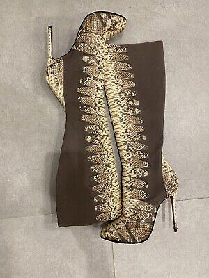 bottes louboutin python