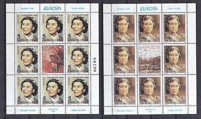 2777-2778 Europa Berühmte Frauen Mit Einem LangjäHrigen Ruf Jugoslawien 1996 Postfrisch Minr Europa Briefmarken