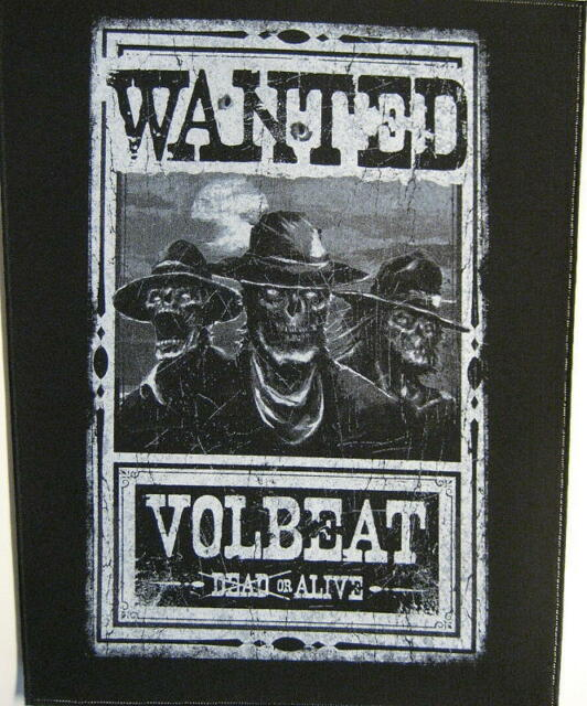 """VOLBEAT RÜCKENAUFNÄHER / BACKPATCH # 2 """"WANTED DEAD OR ALIVE"""""""