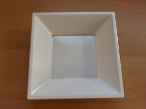 20-x-White-7-034-18cm-Square-Disposable-Plastic-Bowls-Party-Wedding-Buffet-BBQ