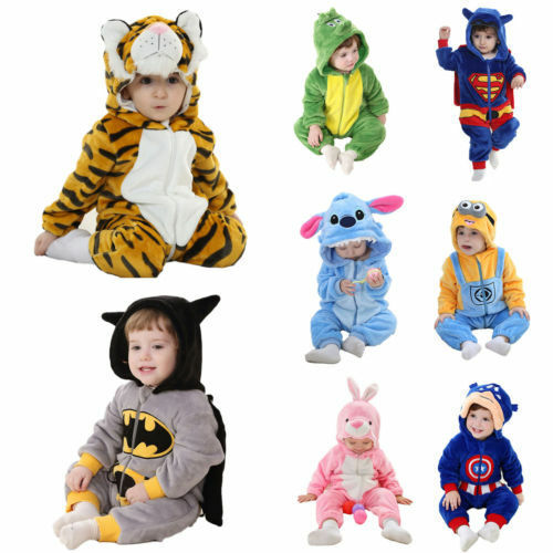 Kids Costume Fancy Dress Cosplay Onesie10 Child Unisex Hooded Animal Pajamas ^/_^