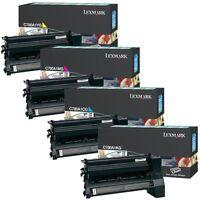 4pk Genuine Lexmark C780 C780n C782 C782e Toner Cartridges C780a1kg