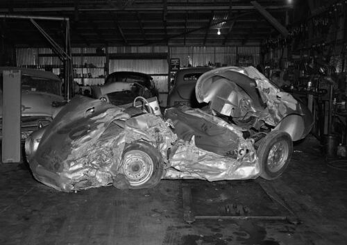 Art print POSTER CANVAS James Dean/'s Wrecked Porsche