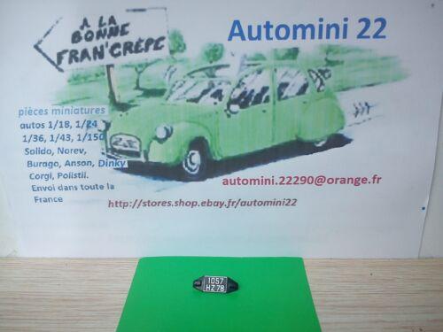 Solido 1//18  pièces  Renault 12 Gordini   Plaque AR