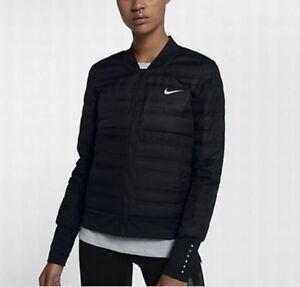 Détails sur Women's Nike aeroloft Down Fill Running Veste 856634 010 Noir. M afficher le titre d'origine