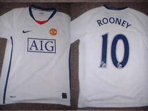 Manchester-United-Rooney-Jersey-Shirt-Boys-L-32-Soccer-Football-Nike-England-W