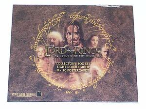 LORD OF THE RINGS RETURN OF THE KING BOX SET OF 8 DOUBLE SIDED POSTERCARDS POST