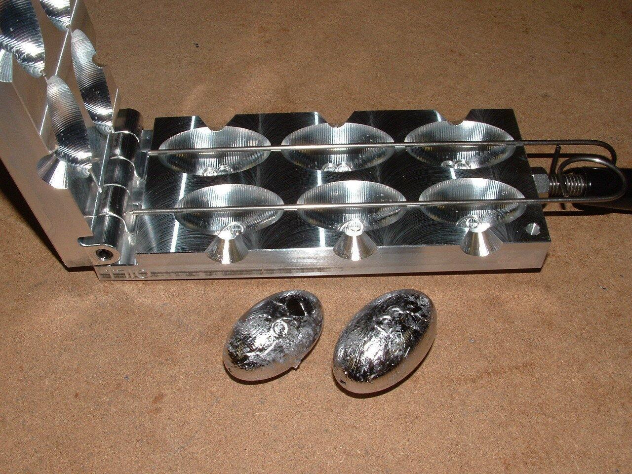 Saltwater Egg Slip Sinker mold 6,8oz CNC Aluminum Freshwater