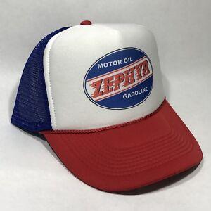 47d86a537ac Image is loading Zephyr-Oil-Gasoline-Trucker-Hat-Vintage-Retro-80-