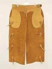1960s Vintage Leather Western Toggle Shotgun Chaps Small - Medium