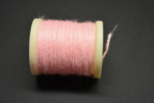 #508  FLUORESCENT PINK  Danville/'s Nylon Wool  10 yards Thread Fly Tying