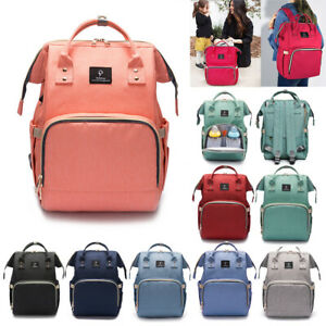 Waterproof-Baby-Diaper-Nappy-Backpack-Mummy-Bag-External-USB-Charging-Interface