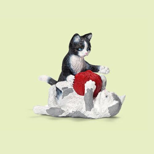 """13724 nuevo con una banderita-New with día!!! /""""los gatos jóvenes con obillos de lana/"""" #schleich"""