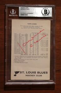 St-Louis-Blues-Signed-Autographed-Jacques-Plante-Postcard-Photo-Auto