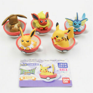 5pcs Set Pokemon Pikachu Eevee Friends Chavena Bonecos Pvc Anime
