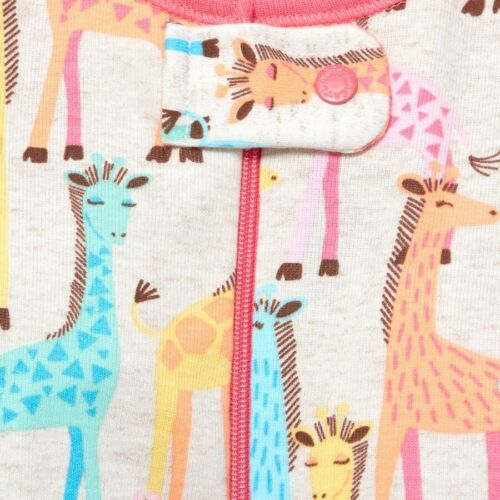 NWT The Childrens Place Giraffe Elephant Girls Stretchie Romper Sleeper Pajamas