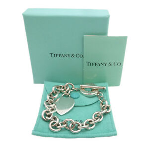 bb941831c Image is loading Authentic-Tiffany-amp-Co-Heart-Tag-Toggle-Bracelet-