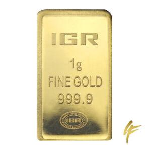 1-Gramm-Goldbarren-IGR-999-9-im-Blister-Zertifikat-LBMA-1g-Gold-24kt-Muenze