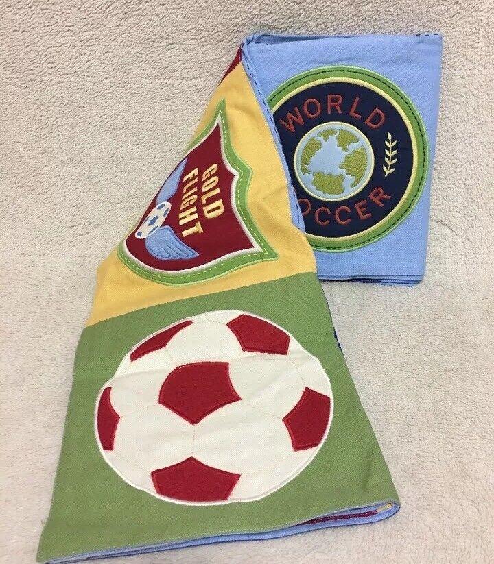 Pottery Pottery Pottery Barn Kids Soccer Tablecloth Nappe Cover 100% Cotton 66 X66  d0828d