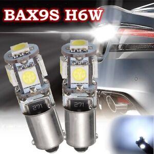2x-BAX9S-H6W-5-LED-Ampoule-Veilleuse-Feux-Stop-12V-6000K-Canbus-Anti-Erreur-Auto