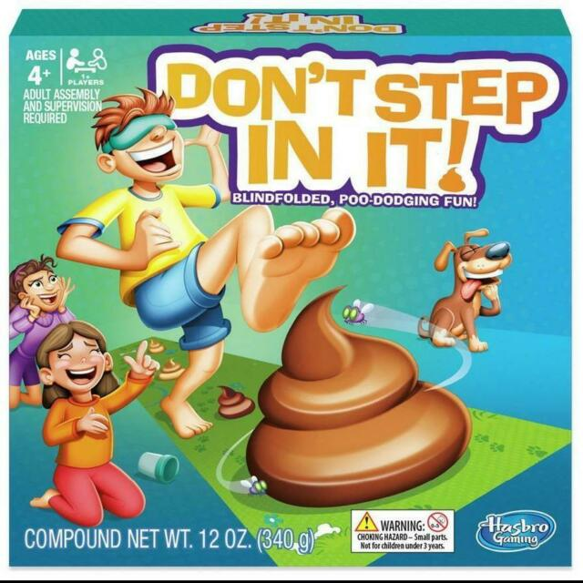 Hasbro Don/'t Step In It Game Blindfolded Poo-Dodging Fun Family Party Game Toys