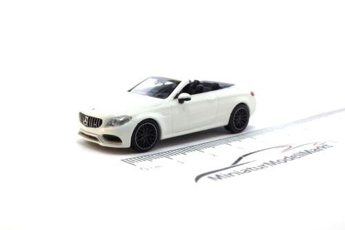2016-1:87 Weiss #870037031 Minichamps Mercedes-AMG C63 C-Klasse Cabrio