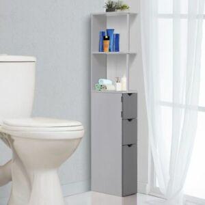 Tall Narrow Bathroom Cabinet Grey