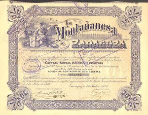 La-Montananesa-Zaragoza-SA-accion-Zaragoza-1923