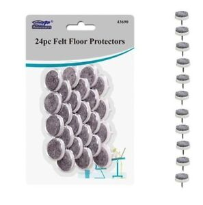Image Is Loading 24Pc Felt Floor Protectors Nail In Anti Skid