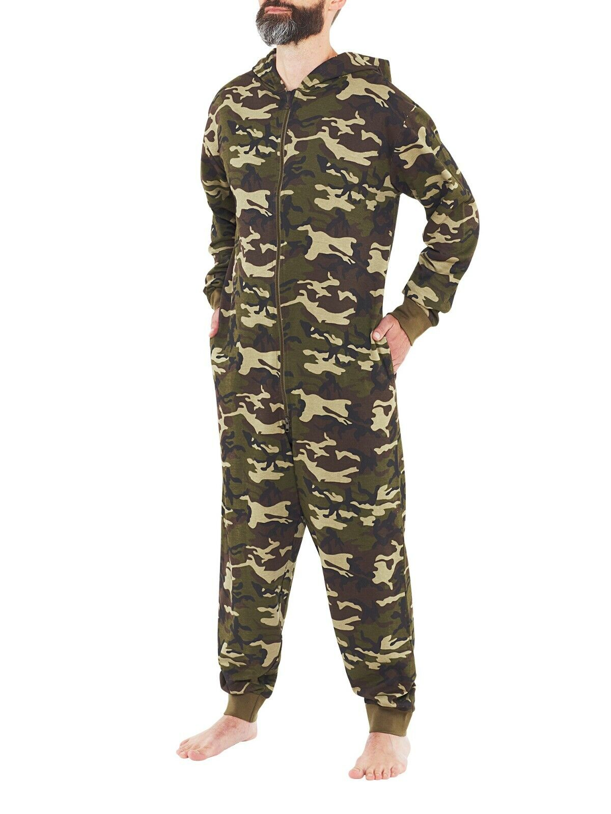 Mens OAK TREE Camo Jump SUIT cotton Mens hunters warm thermal all in ONE ONEISE