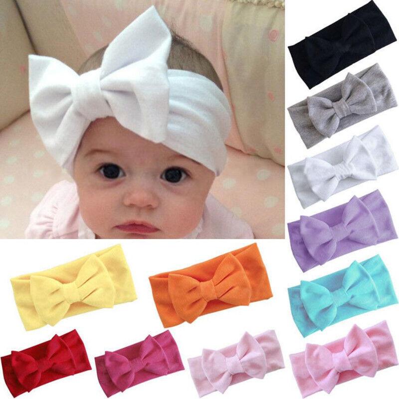 Baby Girls Kids Toddler Bow Hairband Headband Stretch Turban Knot Head Wrap 3