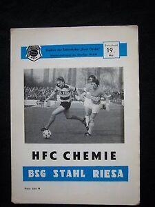 Programm 1978//79 BSG Stahl Riesa Lok Leipzig