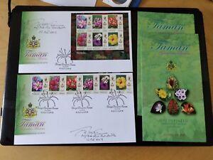 Malaysia-2018-Sultan-Kelantan-Garden-Flower-stamp-FDC-set-Autograph-Designer