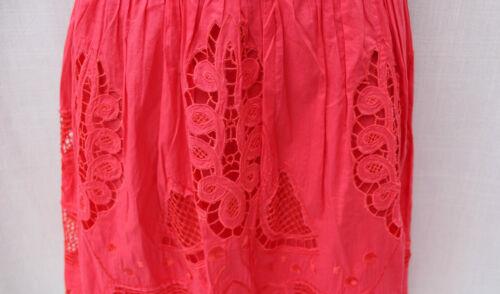 Coral Uk 10 50s Dress Style Anglais Brocade Cocktail Cotton Audrey Millen Karen EOqT44