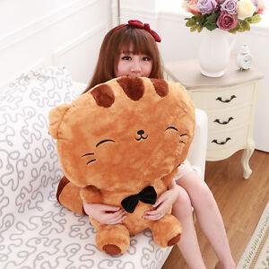 Cute Big Cat Plush Toy Pillow : Big face cat Large Cute Soft Plush Stuffed Toys Doll Cushion Fortune Cat Pillow