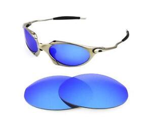 897135a9d90bd La imagen se está cargando Nuevas-Polarizadas-Repuesto-Acero-Azul-Lentes -para-Oakley-