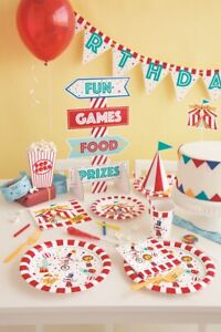 Carnival Circus Party Celebration Pack Service For 8 Baby Shower Birthday Tableware Includes Premium Balloons