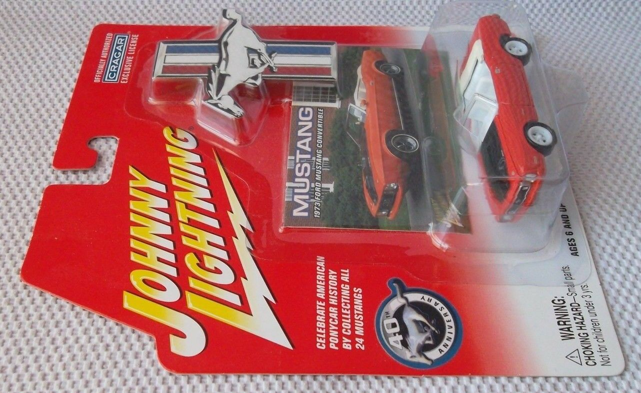 1973 FORD MUSTANG CONgreenIBLE  Johnny White Lightning 2004    MUSTANG II CHASE 58d0eb