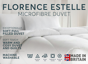 Luxurious 100/% Soft Silky Microfibre Feels Like Down Duvet Quilt Double 13.5 Tog