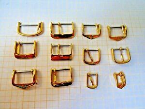 Bänder,ver.größen 3 Zielstrebig Lot Mit 12 Vergoldeten,neuen Dornschliesen Für Armbanduhr Uhrenarmbänder