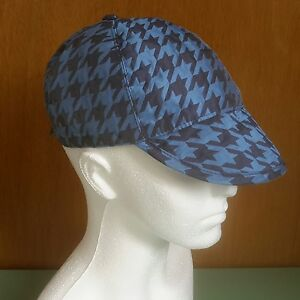 Image is loading House-of-Holland-Metallic-Jacquard-Houndstooth-Cap-55cm- 476ce4a6bca5